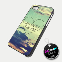 Too Sassy For You Vintage Sky iPhone 5 Case Hard Plastic - $14.85