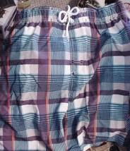 Faded Glory Checkered Swim Trunks Shorts Mens Size M 32 - 34 Waist NWT - $22.95