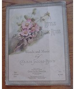 LITTLE PINK ROSE CARRIE JACOBS-BOND Sheet Music 1912 RARE VINTAGE ANTIQUE - $27.95