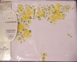 NIP MAJESTIC ROSE PILLOWCASES BY CANNON NOS - $26.95