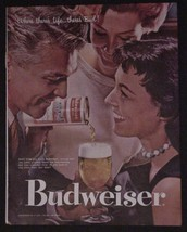 1957 Budweiser - Where there's Life, there's BUD! print ad - $9.97