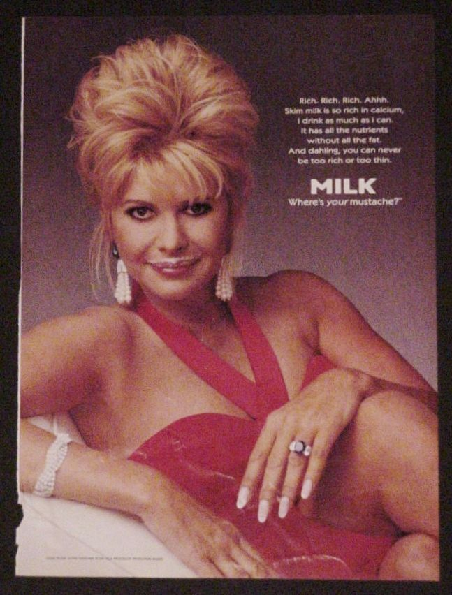 Primary image for 1996 IVANA TRUMP Got Milk? Print ad page