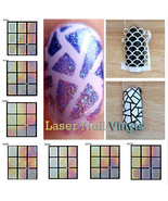 24 Sheets Laser Nail Art Guide Tips Hollow Stencil Sticker Template Viny... - $2.99