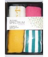 Alfani Spectrum Women Socks Sz 9 - 11 PINK Yellow Multi Anchor 4 Pairs C... - $9.89