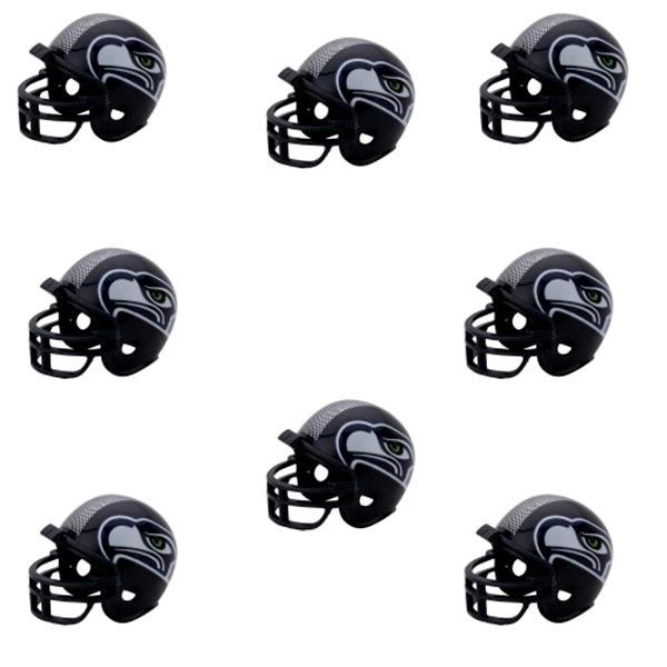 SEATTLE SEAHAWKS 8 PARTY PACK NFL FOOTBALL HELMETS RIDDELL #1