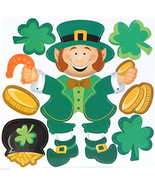 Lucky Irish LEPRECHAUN SHAMROCKS PUZZLE MAGNETS... - $3.93