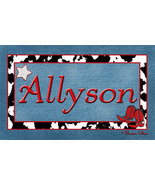 Personalized Cowgirl Home Decor Sign - $15.00