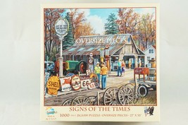 """Ken Zylla Jigsaw Puzzle Signs Of The Times 1000 Pieces 27""""X 35"""" Oversized Pieces - $18.87"""