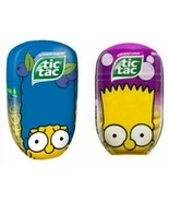 The Simpsons Tic Tacs Marge Bart Simpson Limited Edition 200 Ct Each 2 Pack - $12.11