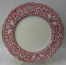 Vintage Fine Bone China Crown Staffordshire ELLESMERE PINK Dinner Plate ... - $40.00