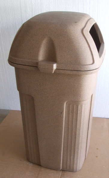 Primary image for (4) Used Brown Toter Commercial 50 Gallon Trash Cans