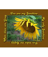 You are my Sunshine Sunflower Wall Decor Art Print - $12.50