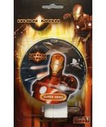MARVEL COMICS IRON MAN MOVIE SUPER HERO NIGHT LIGHT NEW - $4.86