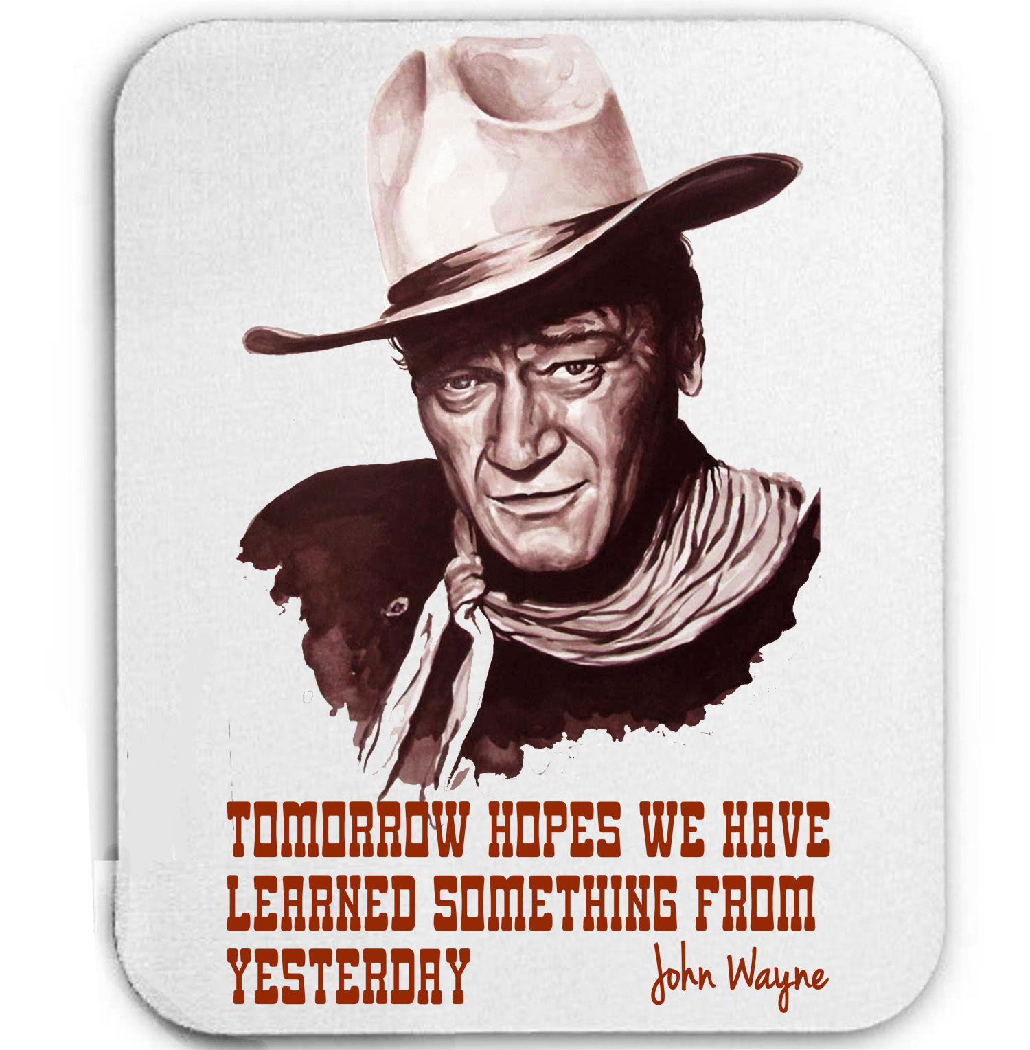 Primary image for JOHN WAYNE AMERICAN ACTOR LEGEND - MOUSE MAT/PAD AMAZING DESIGN