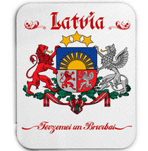 LATVIA COAT OF ARMS - MOUSE MAT/PAD AMAZING DESIGN - $13.87