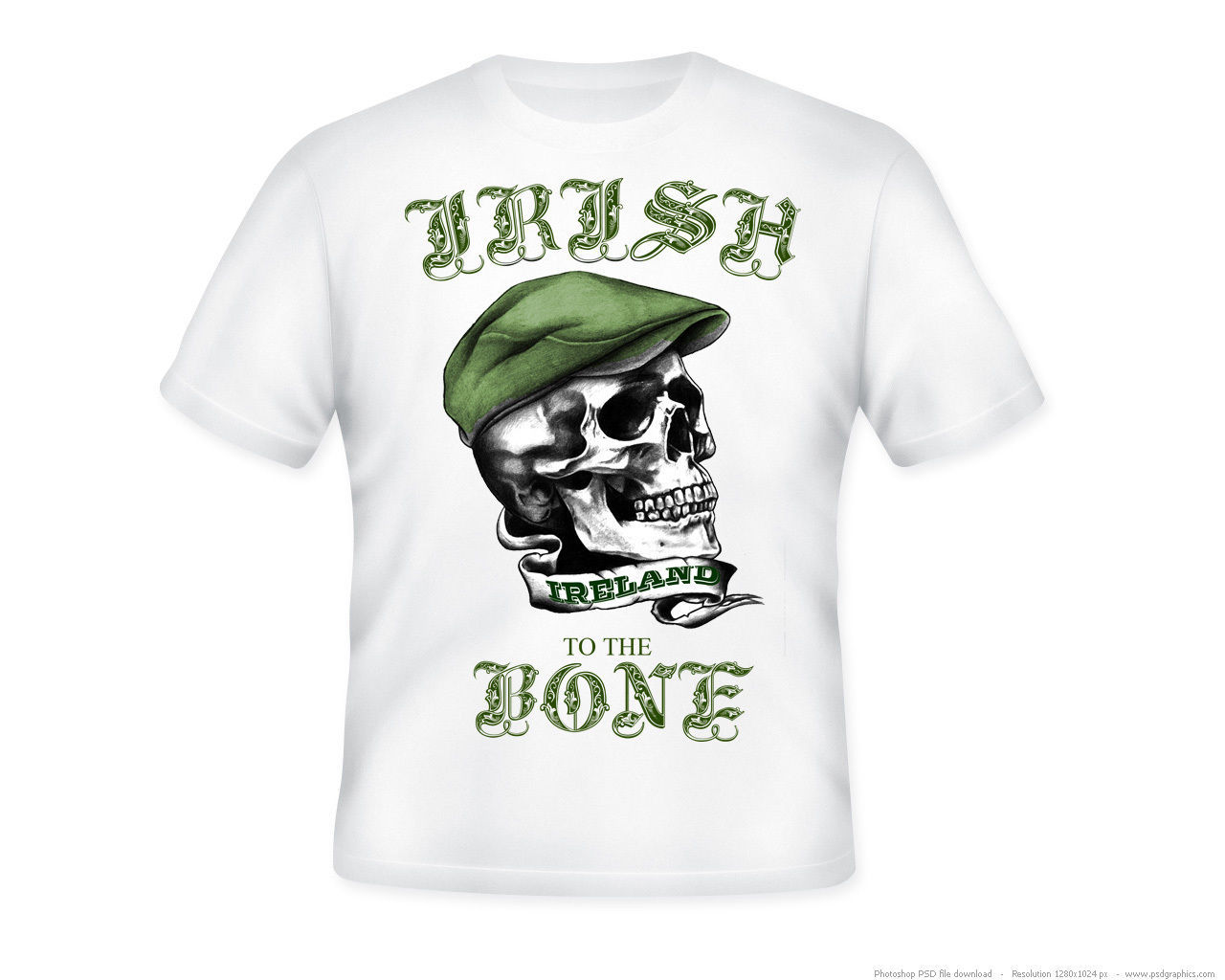 Primary image for IRISH TO THE BONE - NEW AMAZING GRAPHIC T-SHIRT - S-M-L-XL-XXL