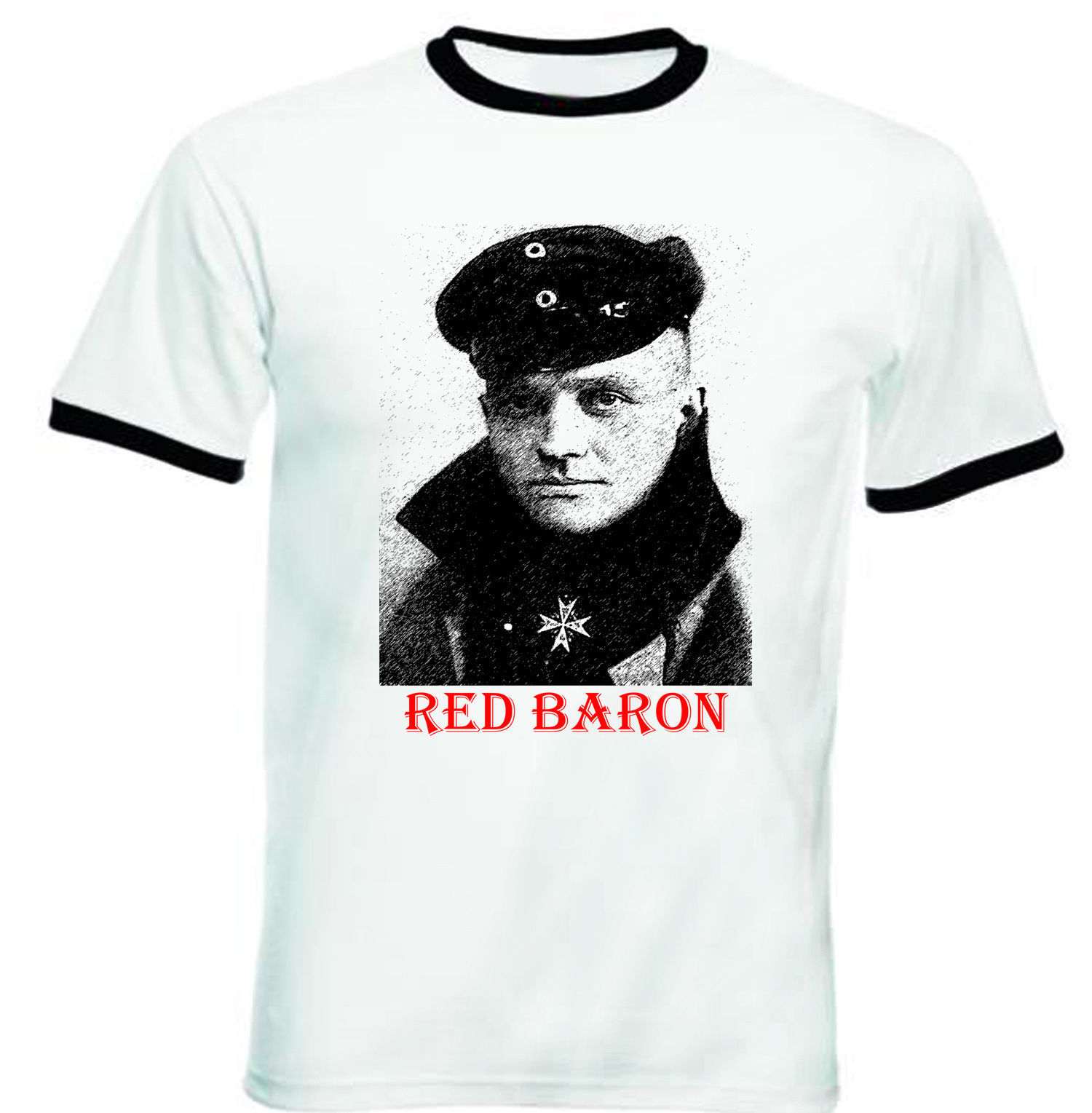 Primary image for RED BARON - NEW BLACK RINGER TSHIRT S-M-L-XL-XXL