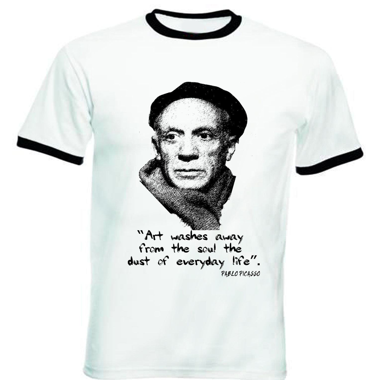 Primary image for PABLO PICASSO - NEW BLACK RINGER TSHIRT S-M-L-XL-XXL