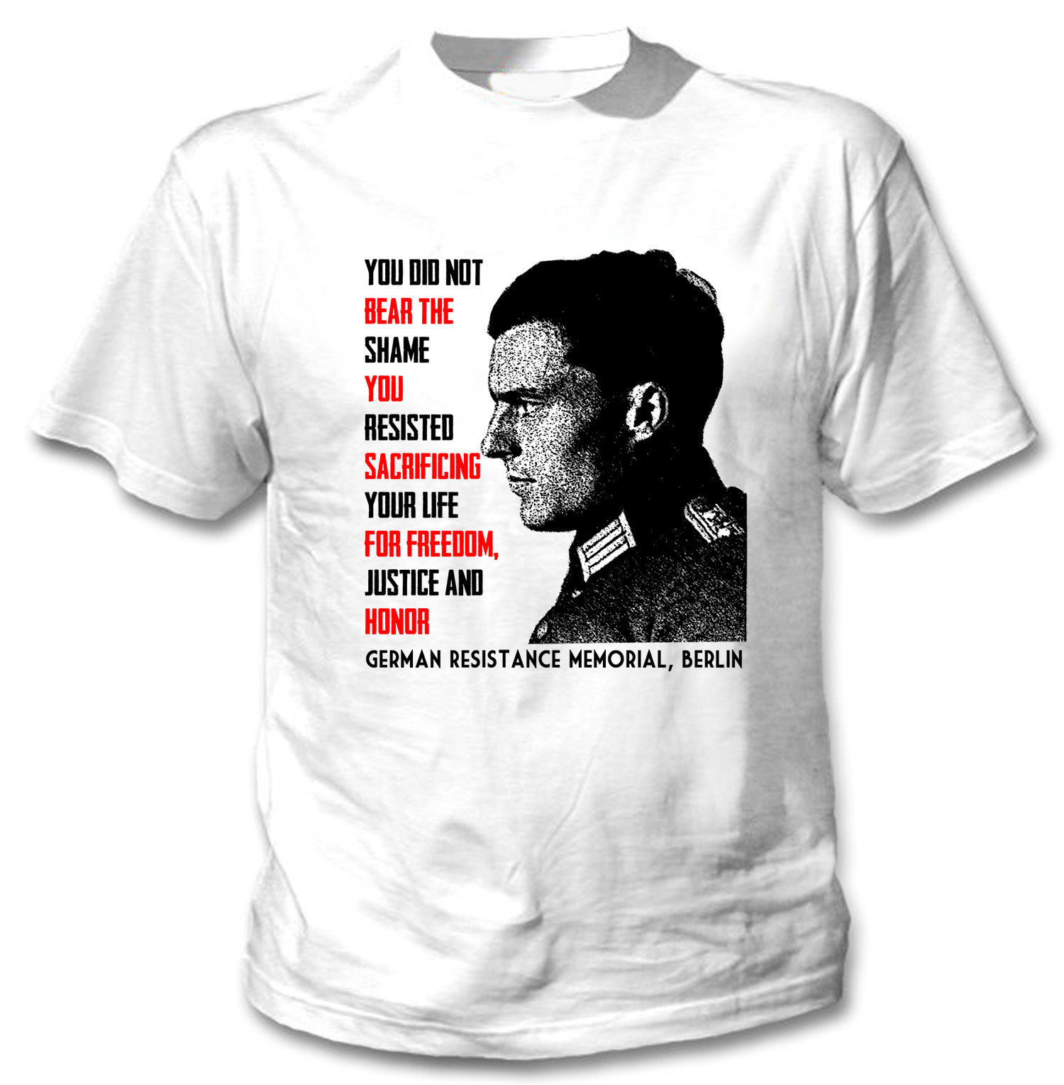 Primary image for Claus von Stauffenberg - NEW AMAZING COTTON TSHIRT- S-M-L-XL-XXL