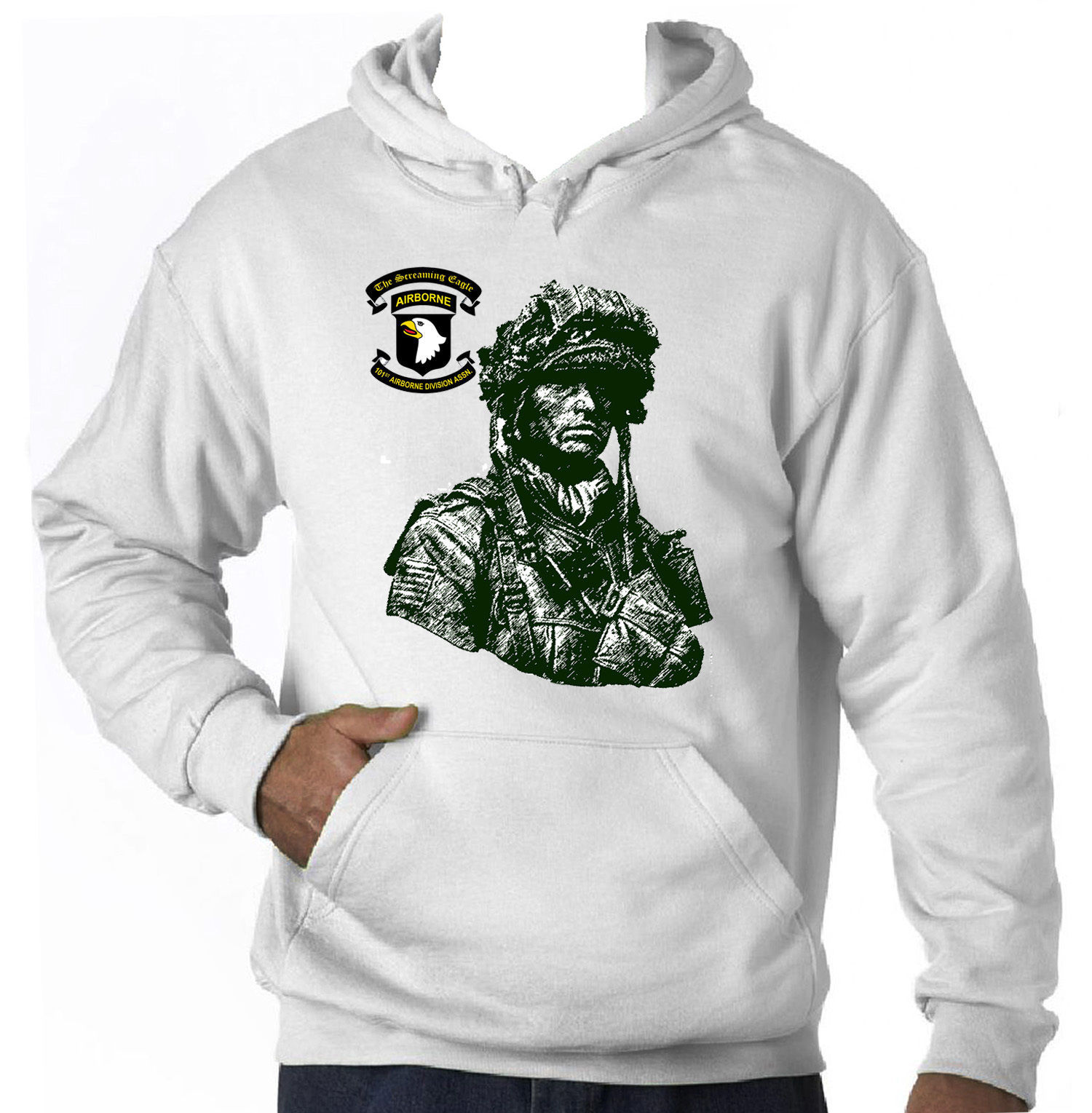 Primary image for 101ST AIRBORNE USA SPECIAL UNIT - NEW COTTON HOODIE S-M-L-XL-XXL