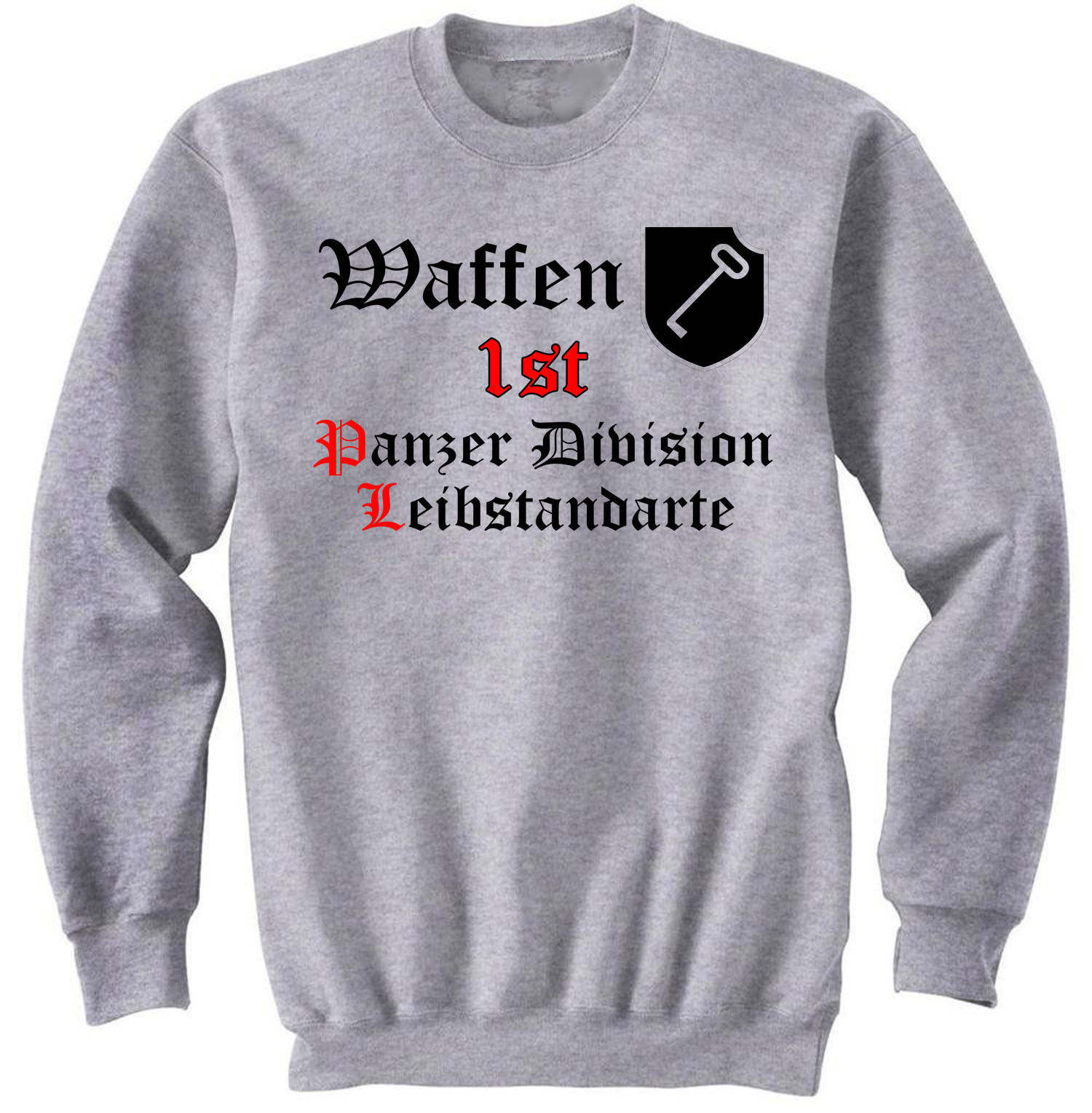 Primary image for WAFFEN 1ST DIVISION LEIBSTANDARTE - NEW GRAPHIC SWEATSHIRT- S-M-L-XL-XXL