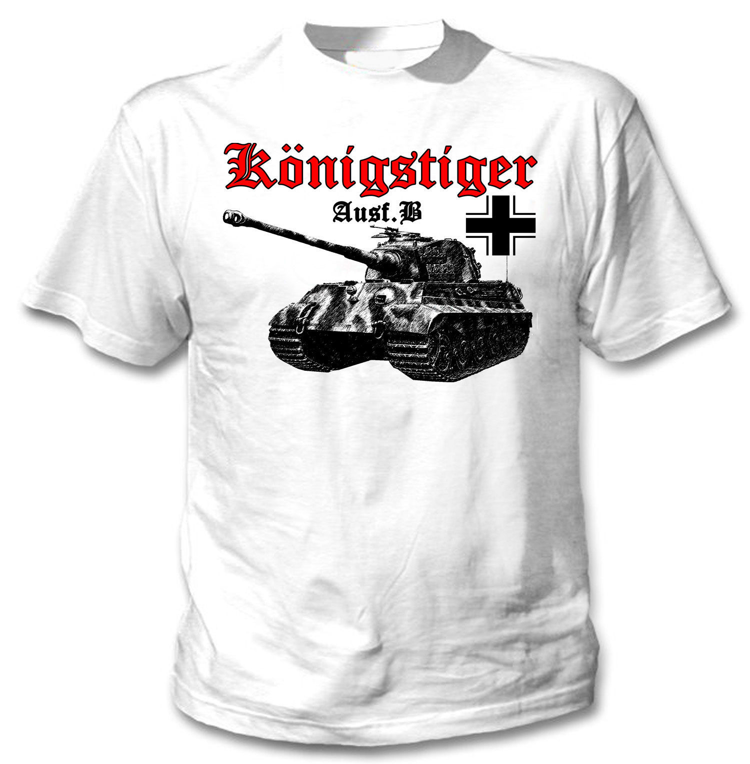 Primary image for KONIGSTIGER PANZERKAMPFWAGEN II WWII- NEW AMAZING GRAPHIC TSHIRT- S-M-L-XL-XXL
