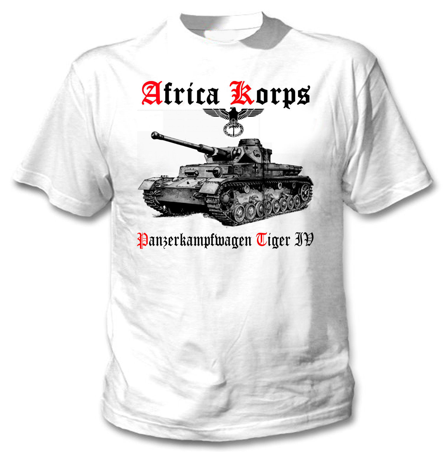 Primary image for TIGER PANZER IV AFRICA KORPS WWII - NEW AMAZING GRAPHIC TSHIRT- S-M-L-XL-XXL