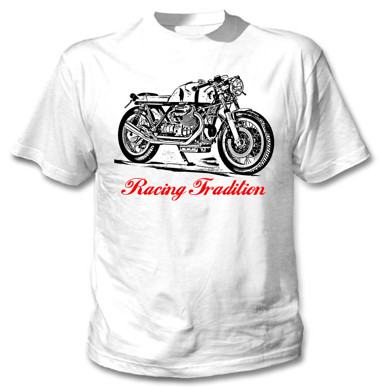 Primary image for ITALIAN MOTORCYCLE CAFE RACER LE MANS - NEW AMAZING GRAPHIC TSHIRT- S-M-L-XL-XXL
