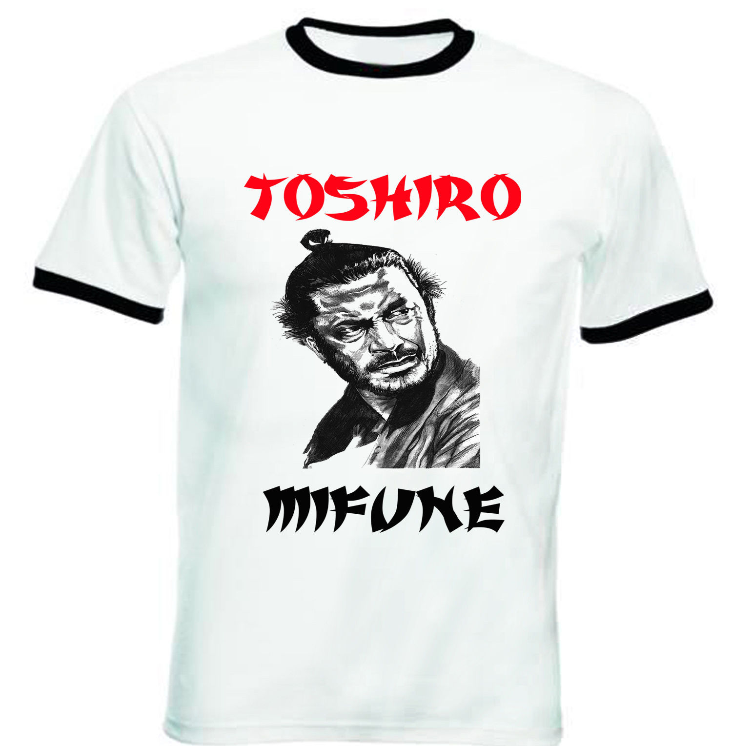Primary image for TOSHIRO MIFUNE 1 - NEW BLACK RINGER TSHIRT S-M-L-XL-XXL