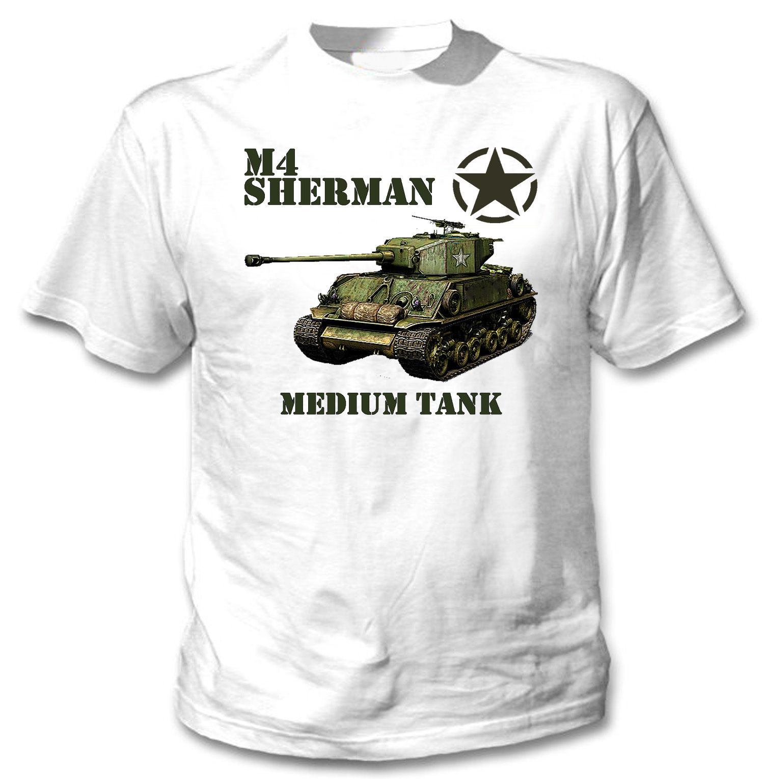 Primary image for M4 SHERMAN MEDIUM TANK - NEW AMAZING GRAPHIC TSHIRT- S-M-L-XL-XXL
