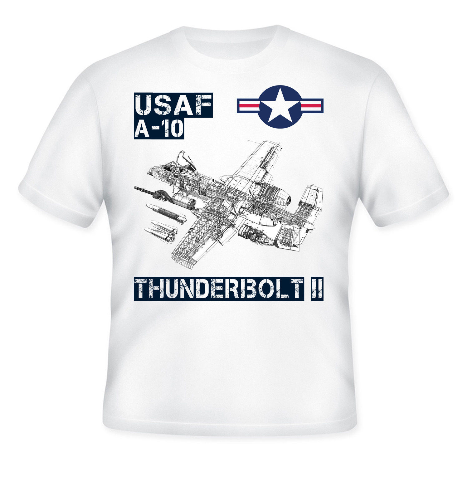 Primary image for USAF A-10 THUNDERBOLT II - NEW COTTON QUOTE T-SHIRT - S-M-L-XL-XXL