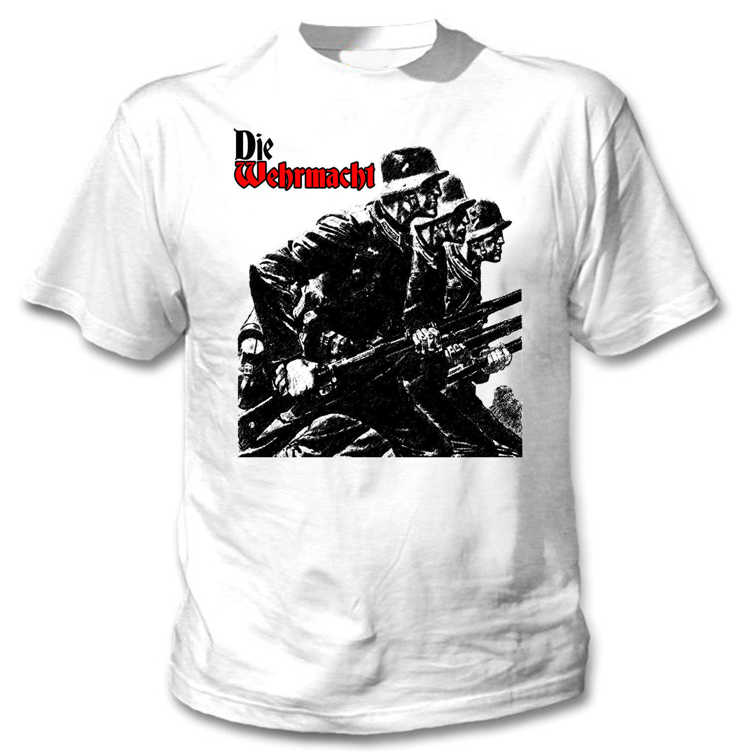 Primary image for WEHRMACHT WWII GERMAN SOLDIER - NEW AMAZING GRAPHIC TSHIRT