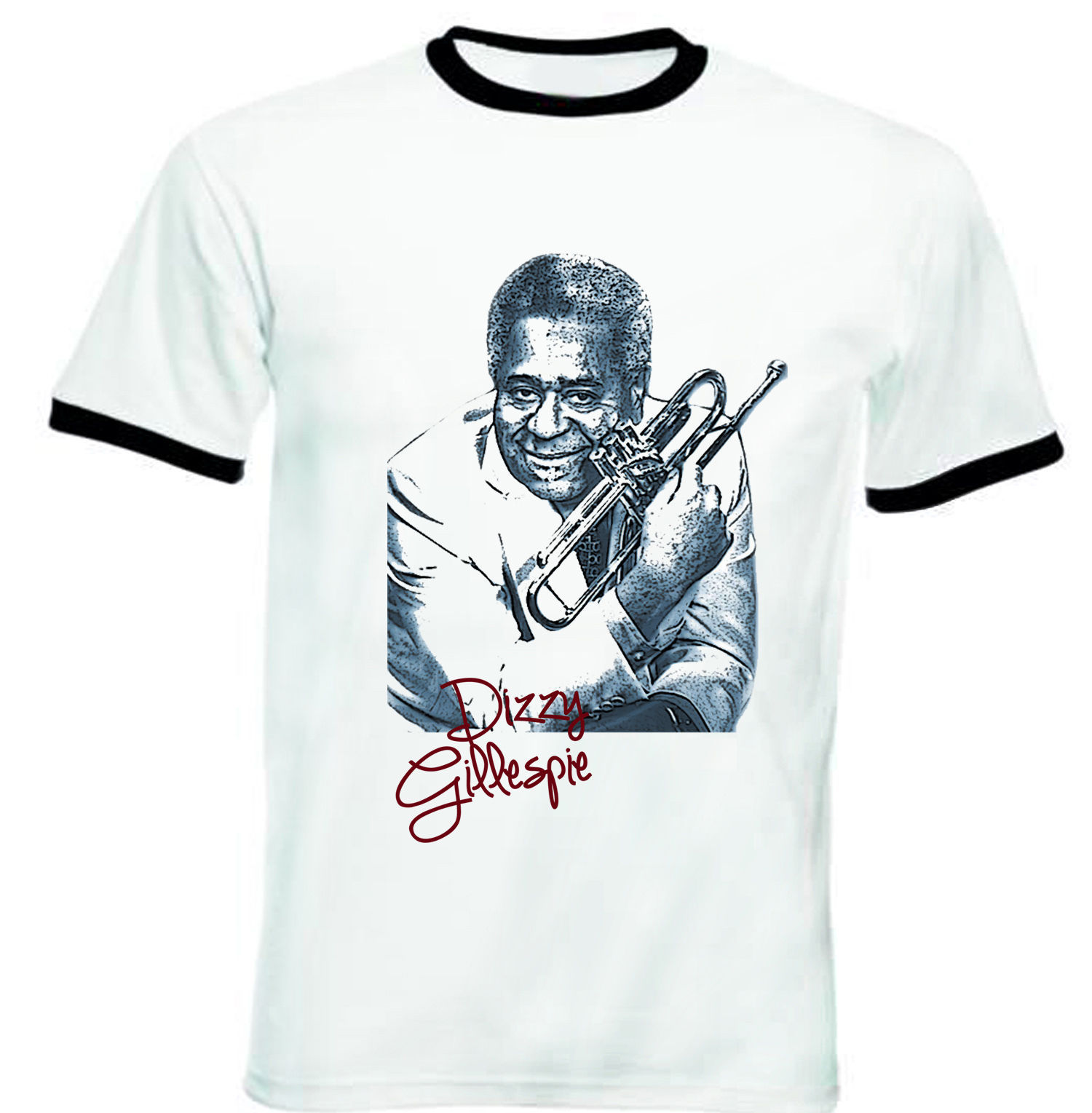 Primary image for DIZZY GILLESPIE - NEW BLACK RINGER TSHIRT S-M-L-XL-XXL