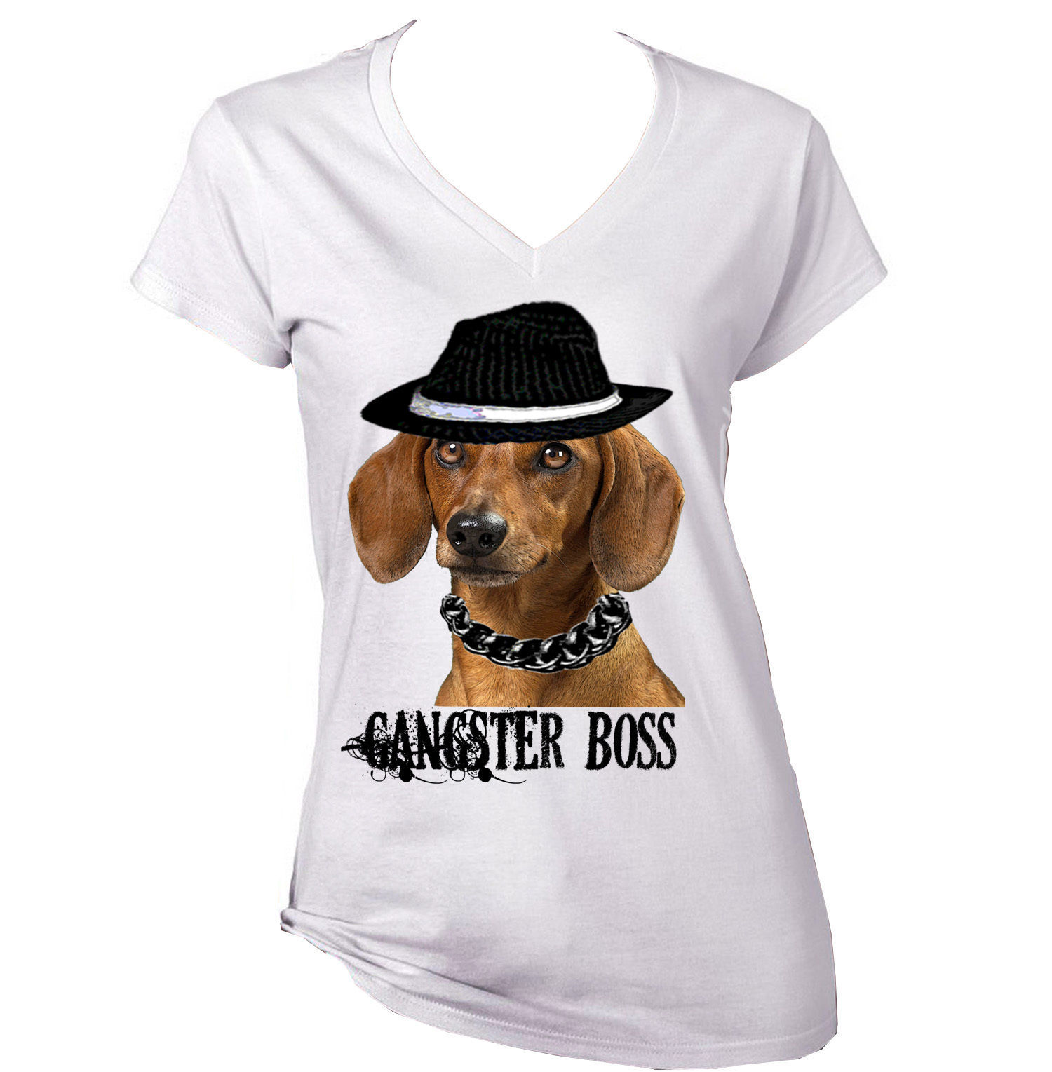 Primary image for DACHSHUND GINGER  GANGSTER BOSS AMAZING GRAPHIC TSHIRT- S-M-L-XL-XXL