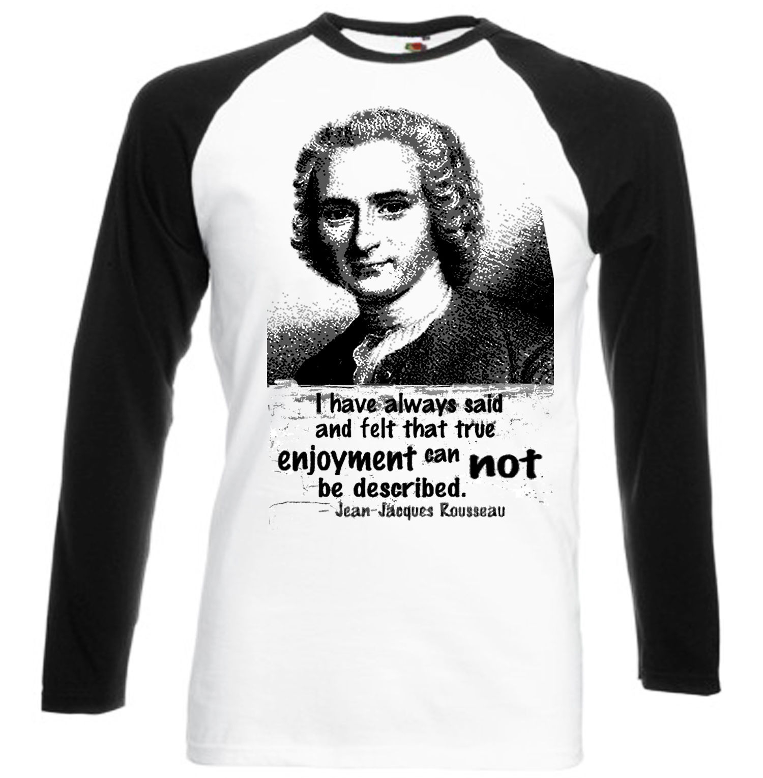 Primary image for JEAN JACQUOES ROUSSEAU QUOTE  - NEW BASEBALL TSHIRT S-M-L-XL-XXL