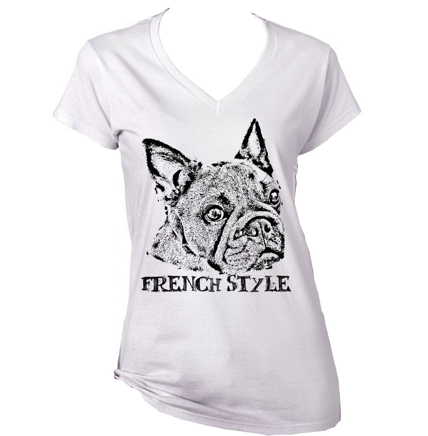 Primary image for FRENCH  BULLDOG 1  FRENCH STYLE B AMAZING GRAPHIC TSHIRT- S-M-L-XL-XXL