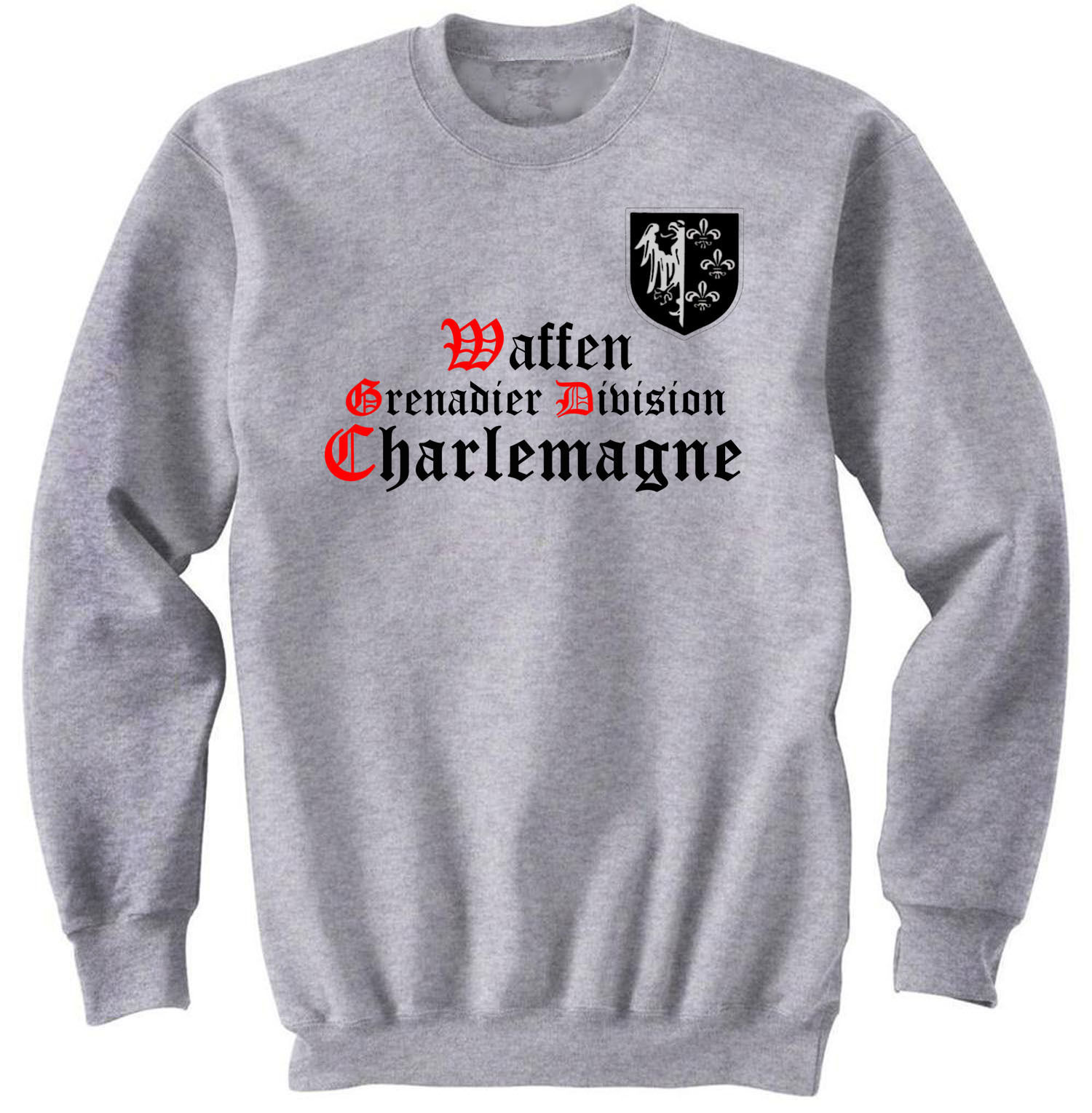 Primary image for WAFFEN GRENADIER DIVISION CHARLEMAGNE -  NEW GRAPHIC SWEATSHIRT- S-M-L-XL-XXL