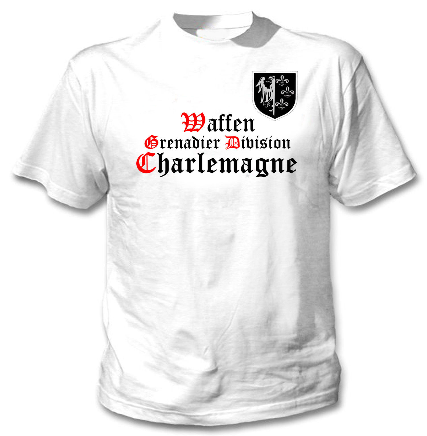 Primary image for WAFFEN GRENADIER DIVISION CHARLEMAGNE - NEW COTTON TSHIRT