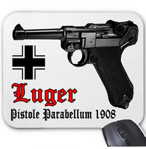 Luger P08 Parabellum Germany Wwii   Mouse Mat/Pad Amazing Design - $12.47