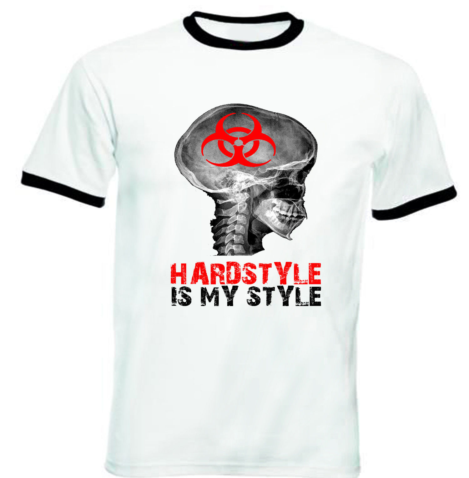 Primary image for HARDSTYLE IS MY STYLE - NEW BLACK RINGER TSHIRT S-M-L-XL-XXL