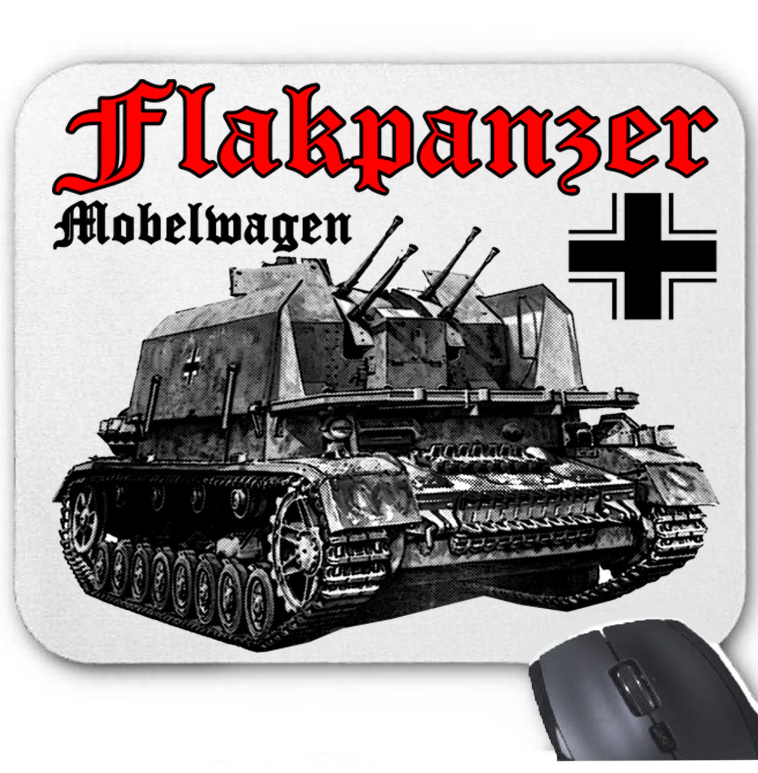 Primary image for FLAKPANZER MOBELWAGEN GERMANY WWII - MOUSE MAT/PAD AMAZING DESIGN
