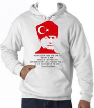 KEMAL ATATURK TURKISH LEADER   - NEW AMAZING GRAPHIC HOODIE S-M-L-XL-XXL - $39.71