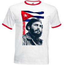 Fidel Castro Cuba Revolution   Red Ringer Tshirt S M L Xl Xxl - $27.61