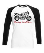 JAPANESE MOTORCYCLE TDM 850   - BLACK SLEEVED BASEBALL TSHIRT S-M-L-XL-XXL - $37.84
