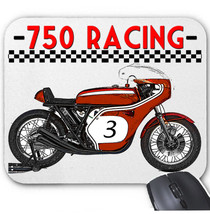 Japanese 750 Racing Motorcycle   Mouse Mat/Pad Amazing Design - $13.70