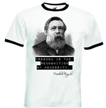 Friedrich Engels Quote   Black Ringer Tshirt S M L Xl Xxl - $39.25