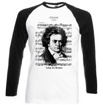 Ludwig Van Beethoven Classic Music   Black Sleeved Baseball Tshirt S M L Xl Xxl - $27.61