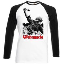 Wehrmacht Germany Wwii  Black Sleeved Baseball Tshirt - $39.62
