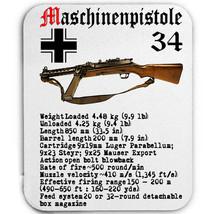 MASCHINENPISTOLE 34 GERMANY WWII - MOUSE MAT/PAD AMAZING DESIGN - $12.36