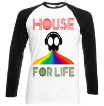 House Music For Life    Black Sleeved Baseball T Shirt S M L Xl Xxl - $38.55